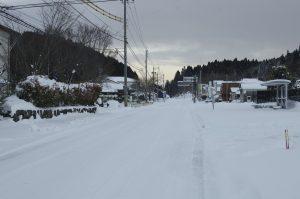 東峰村の雪 国道211号線